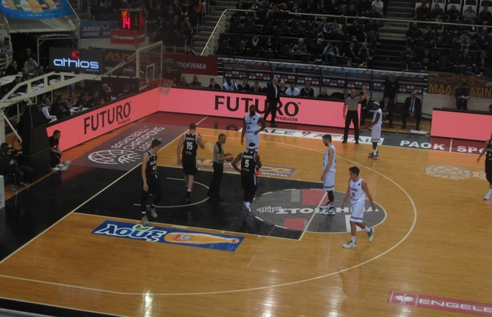 "Sponsorship at Basketball team ""PAOK'"