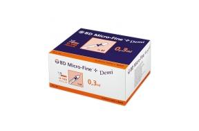 B-D ΣΥΡΙΓΓΑ ΙΝΣ.0,3ml 30G DEMI (100 τμχ.)