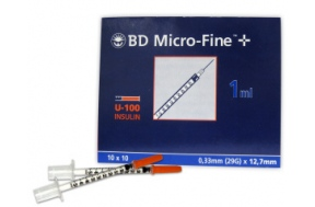 B-D ΣΥΡΙΓΓΑ ΙΝΣ. 1ml 29G (100 τμχ.)