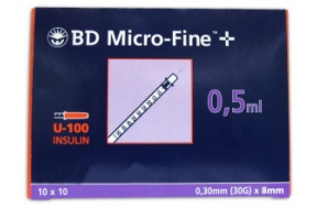B-D ΣΥΡΙΓΓΑ ΙΝΣ. 0,5ml 30G (100τμχ.)