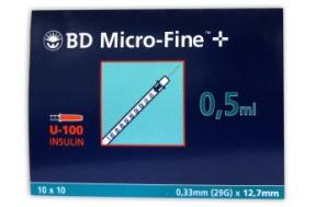 B-D ΣΥΡΙΓΓΑ ΙΝΣ. 0,5ml 29G (100 τμχ.)