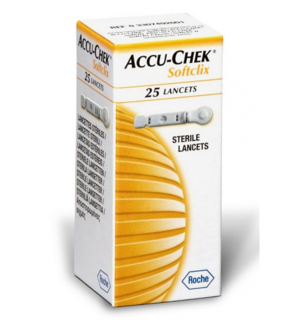 ACCU CHEK SOFTCLIX LANCETS 25