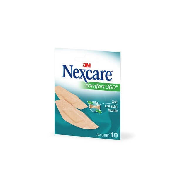 NEXCARE COMFORT STRIPS 360o 10 τμχ.