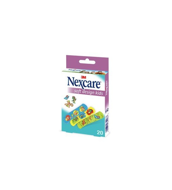 NEXCARE SOFT STRIPS KIDS 3ΣΧ19X72mm 20τμ